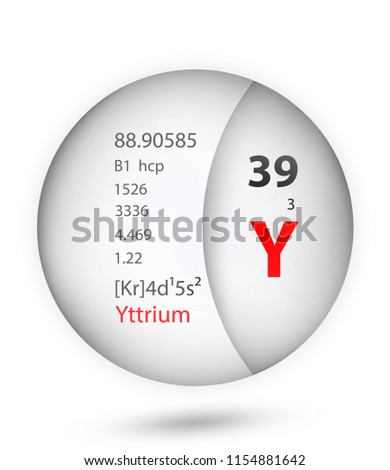 Yttrium Icon Badge Style Periodic Table Stock Vector Royalty Free