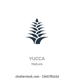Yucca icon vector. Trendy flat yucca icon from nature collection isolated on white background. Vector illustration can be used for web and mobile graphic design, logo, eps10