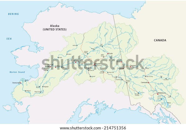 Yukon River Map Stock Vector (Royalty Free) 214751356 on lake ontario, sierra nevada map, kenai river map, black hills map, hudson bay, colorado river map, klondike gold rush, alaska map, canadian shield map, canada map, bering sea, hudson river map, st. lawrence river map, columbia river, mackenzie river, bering sea map, great bear lake, bay of fundy, cascade range map, lake superior map, amazon river, yellowstone river map, mount mckinley, rio grande map, yellow river, dawson city, klondike river map, fairbanks map, baffin bay map, colorado river, congo river, rio grande, lake erie, saint lawrence river, great slave lake, tanana river map, aleutian islands map, copper river map,