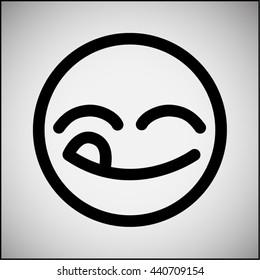 Yummy face icon