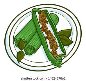 nasi bakar images stock photos vectors shutterstock https www shutterstock com image vector yummy nasi bakar traditional rice dishes 1482487862