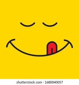 Yummy smile  icon design. vector illustration