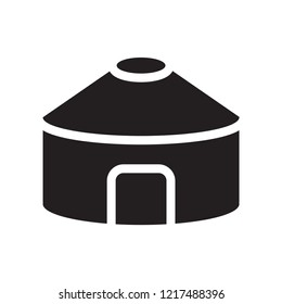 Yurt icon. Trendy Yurt logo concept on white background from sauna collection. Suitable for use on web apps, mobile apps and print media.