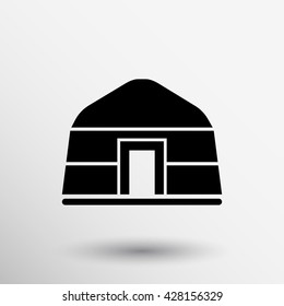 Yurt of nomads Illustration Icon Mongolian tent.
