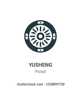 Yusheng vector icon on white background. Flat vector yusheng icon symbol sign from modern food collection for mobile concept and web apps design.
