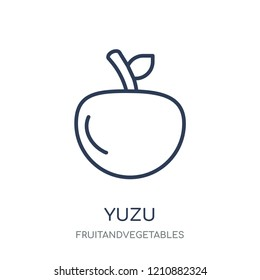 Yuzu icon. Yuzu linear symbol design from Fruitandvegetables collection. Simple outline element vector illustration on white background.