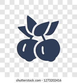 Yuzu icon. Trendy Yuzu logo concept on transparent background from Fruits and vegetables collection