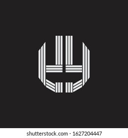 YY Logo monogram with outline style linked isolated on black background