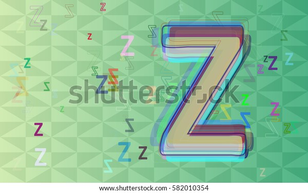 Z Alphabet template design