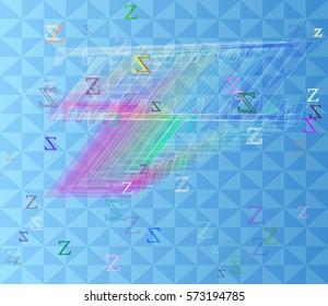 Z Alphabet template vector