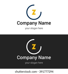 Z business logo icon design template elements. Vector color sign.