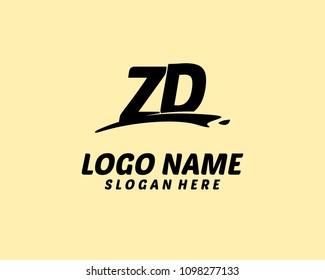 Z D Initial logo