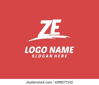 Z E Initial logo
