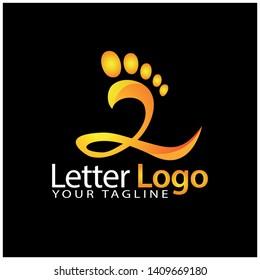 Z foot logo template, stock logo template