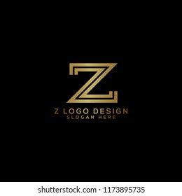 Z Gold Logo Design