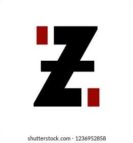 z, izi, zi initials letter company logo
