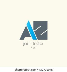 A Z joint letter logo design template