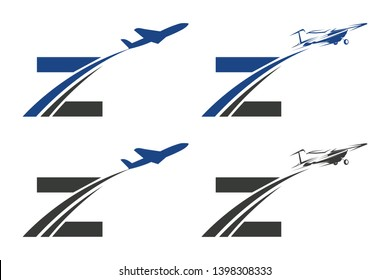 Z Letter with Aviation Logo Design