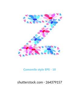 Z letter flower for your design