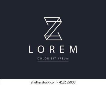 Z letter icon design template. Vector symbol.