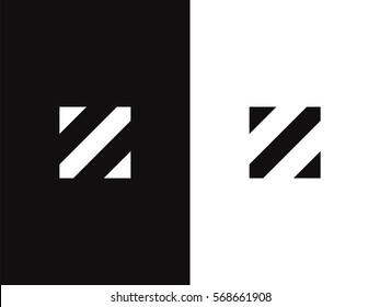 Z Letter Logo concept. Creative Minimal Monochrome Monogram emblem design template. Graphic Alphabet Symbol for Corporate Business Identity. Creative Vector element
