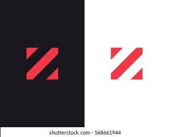 Z Letter Logo concept. Creative Minimal Alphabet emblem design template. Graphic Symbol for Corporate Business Identity. Creative Vector red graphic element