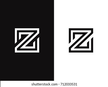 Z Letter Logo concept Linear style. Creative Minimal Monochrome Monogram emblem design template. Graphic Alphabet Symbol for Luxury Fashion Corporate Business Identity. Elegant Vector element