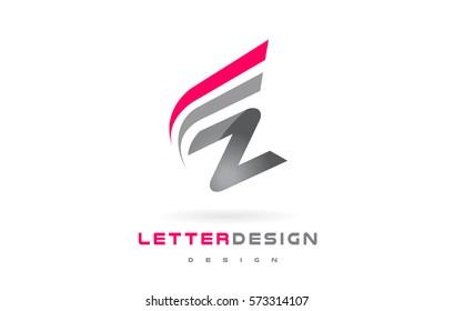 Z Letter Logo Design. Futuristic Modern Lettering Concept Vector.