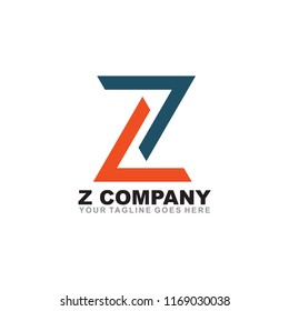 Z letter logo design vector template
