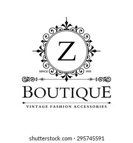 Z Letter logo, Monogram design elements, line art logo design. Beautiful Boutique Logo Designs, Business sign, Restaurant, Royalty, Cafe, Hotel, Heraldic, Jewelry, Fashion, Wine. Vector illustration