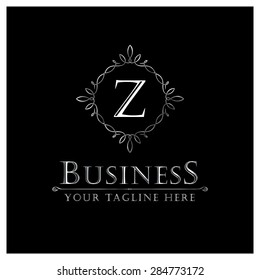 Z letter Luxury Logo template flourishes calligraphic elegant ornament lines. Business sign, identity for Restaurant, Royalty, Cafe, Hotel, Heraldic, Jewelry, Fashion and other vector illustration