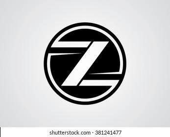 Z letter vector logo black