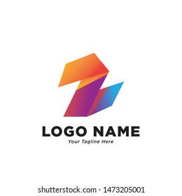 Z logo design with gradient color