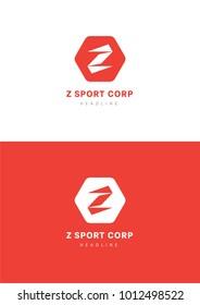 Z sport corporation logo template.