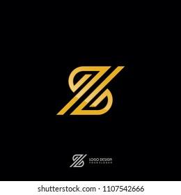 Z Symbol in Gold Monogram Style