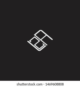 ZA Initial Logo letters with rotate squere template