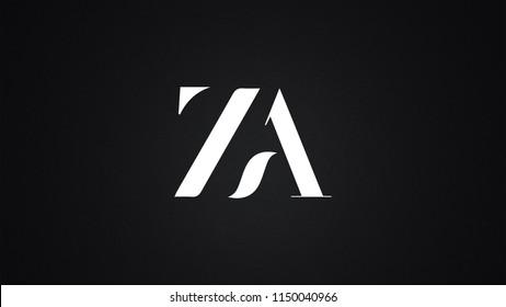 ZA Letter Logo Design Template Vector