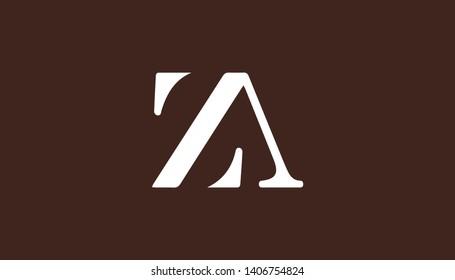 ZA logo with combination in creative minimalist style. Vector illustration for ZA logo.