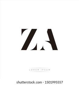ZA logo monogram isolated on white background