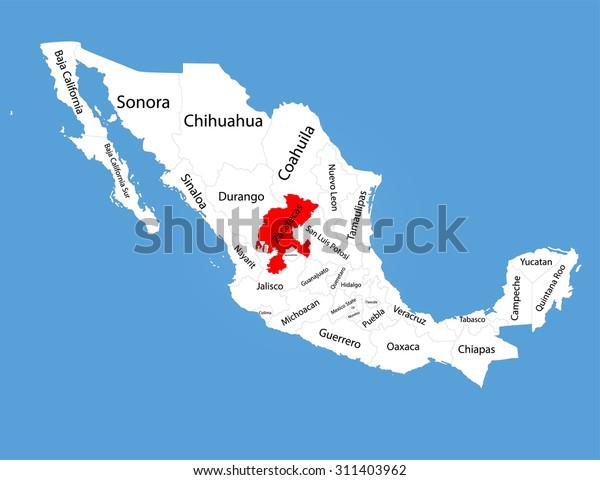 Zacatecas Mexico Vector Map Silhouette Isolated Stock Vector ... on oaxaca mexico map, zacatecas satellite map, puerto escondido mexico map, tijuana mexico map, guerrero mexico map, chihuahua mexico map, michoacan mexico map, tamaulipas map, nochistlan zacatecas map, malinalco mexico map, acapulco mexico map, san luis potosí mexico map, zacatecas state map, cancun mexico map, morelia mexico map, guadalajara mexico map, jalpa zacatecas map, puebla mexico map, mazatlan mexico map, jalisco mexico map,