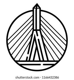 Zakim Bridge icon vector
