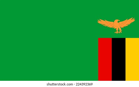 Zambia flag vector.