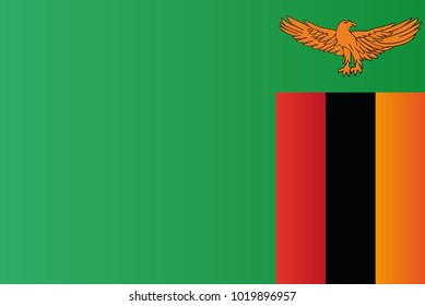 Zambia national flag. Republic of Zambia vector illustration symbol.