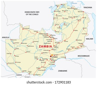zambia map Images, Stock Photos & Vectors | Shutterstock
