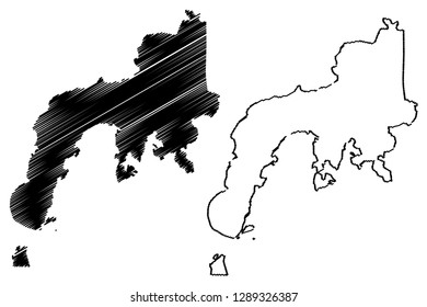 Zamboanga Peninsula Region (Regions and provinces of the Philippines, Republic of the Philippines) map vector illustration, scribble sketch Western Mindanao (Region IX) map
