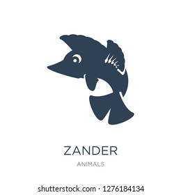 zander icon vector on white background, zander trendy filled icons from Animals  collection, zander vector illustration