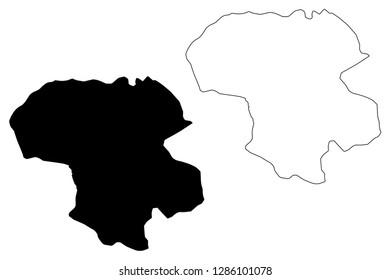 Zanjan Province (Provinces of Iran, Islamic Republic of Iran, Persia) map vector illustration, scribble sketch Zanjan map