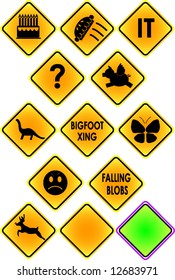 Zany Road Signs- good for any vector silhouette