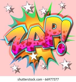 A Zap Comic Book Illustration