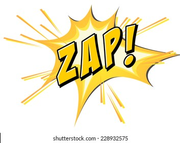 Zap on yellow and white